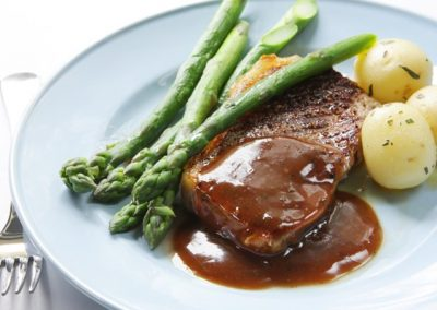 Sliced Steak with Marsala Sauce