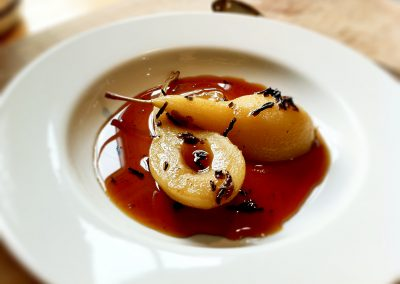 Baked Pear in Brandy Sauce
