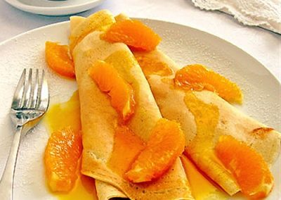 Flambe' Crepes Suzette
